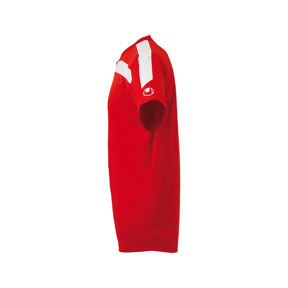 Uhlsport Liga Shirt - Rouge & Blanc - Vue de côté