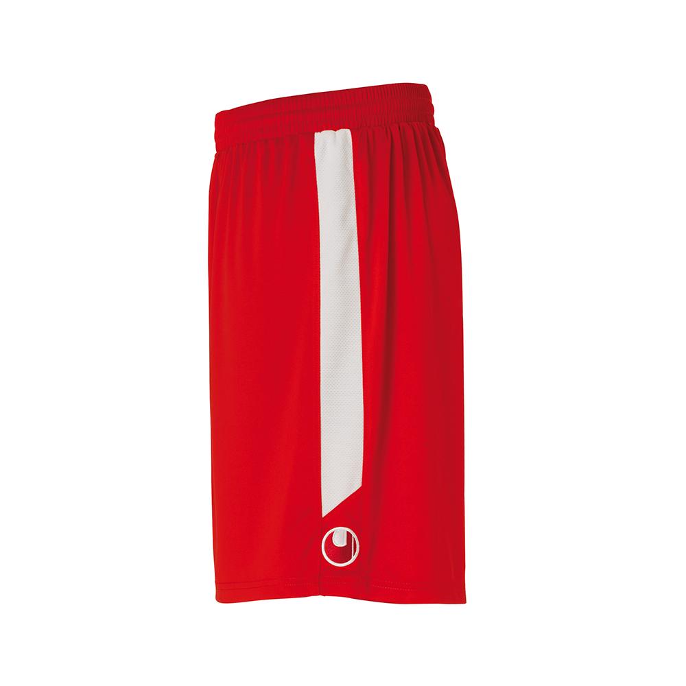 Uhlsport Liga Shorts - Rouge & Blanc - Vue de côté