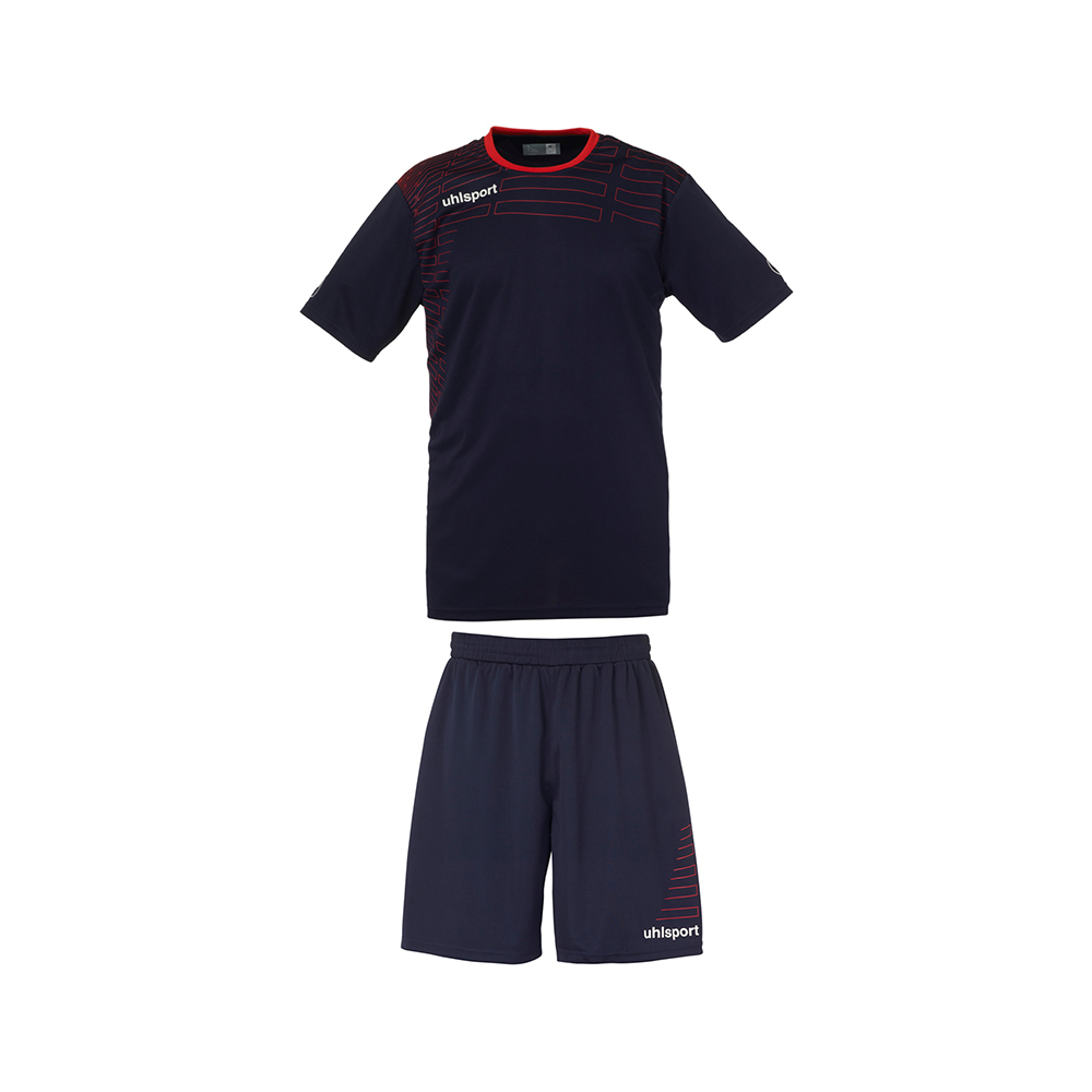 Uhlsport Match Team Kit Men - Marine & Rouge