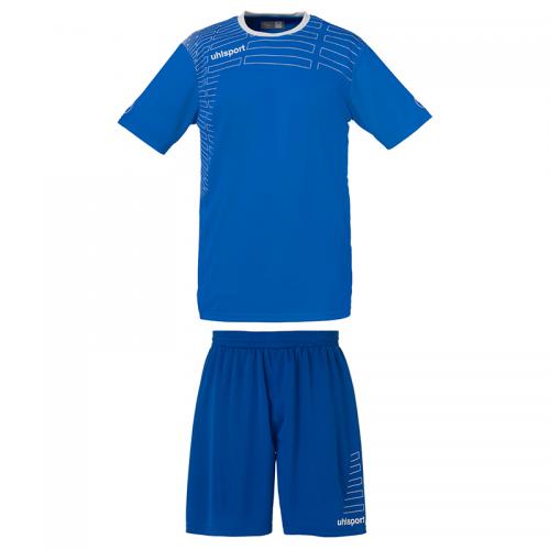 Uhlsport Match Team Kit Men - Azur & Blanc