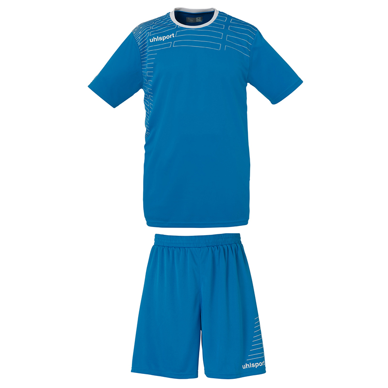 Uhlsport Match Team Kit Men - Cyan & Blanc