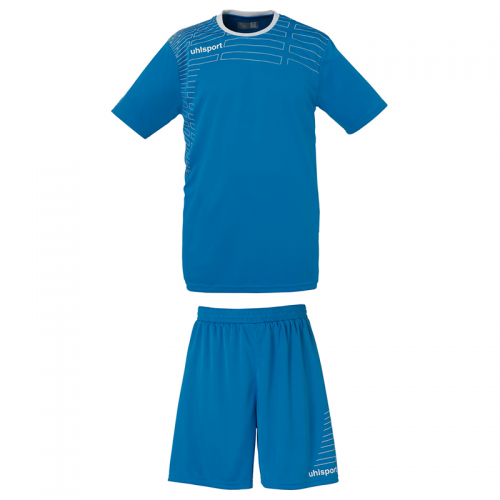Uhlsport Match Team Kit Women - Cyan & Blanc