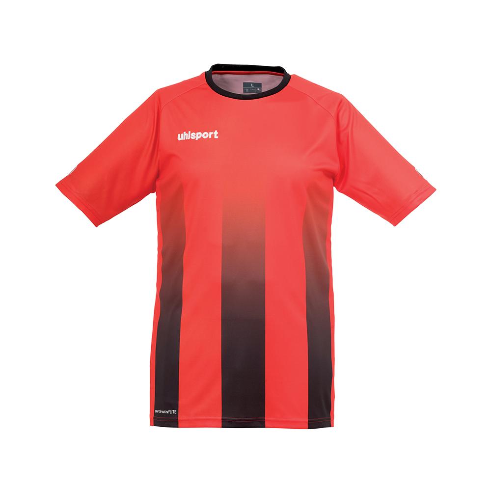 Uhlsport Stripe Shirt - Rouge & Noir