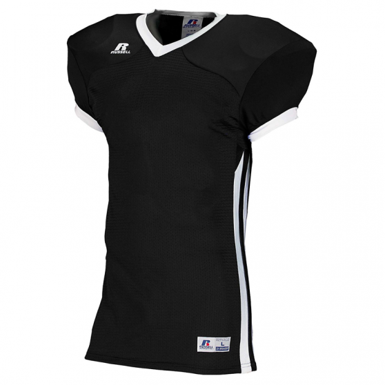 Russell Athletic Compression Color Block Jersey - Noir/Blanc