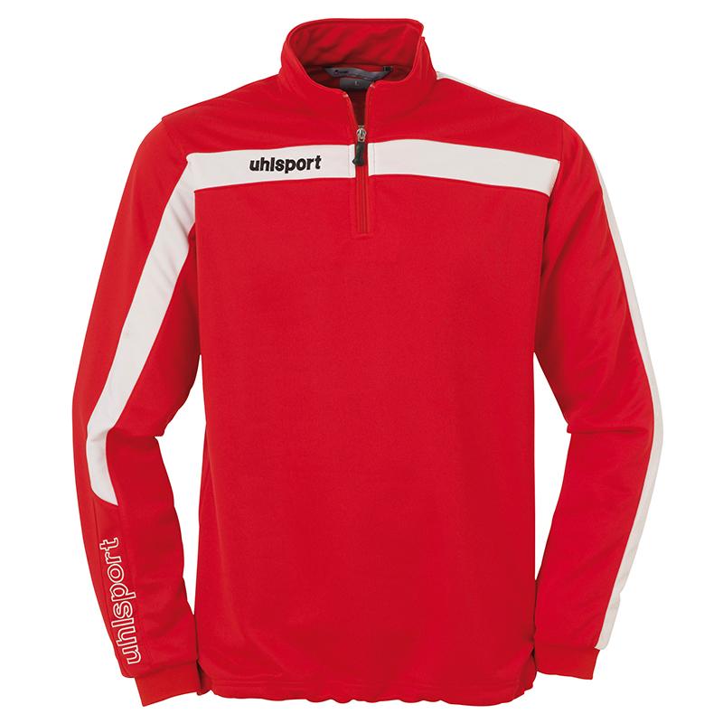 Uhlsport Liga Sweat 1/4 Zip - Rouge & Blanc