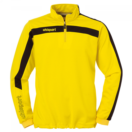 Uhlsport Liga Sweat 1/4 Zip - Jaune & Noir