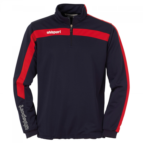 Uhlsport Liga Sweat 1/4 Zip - Marine & Rouge