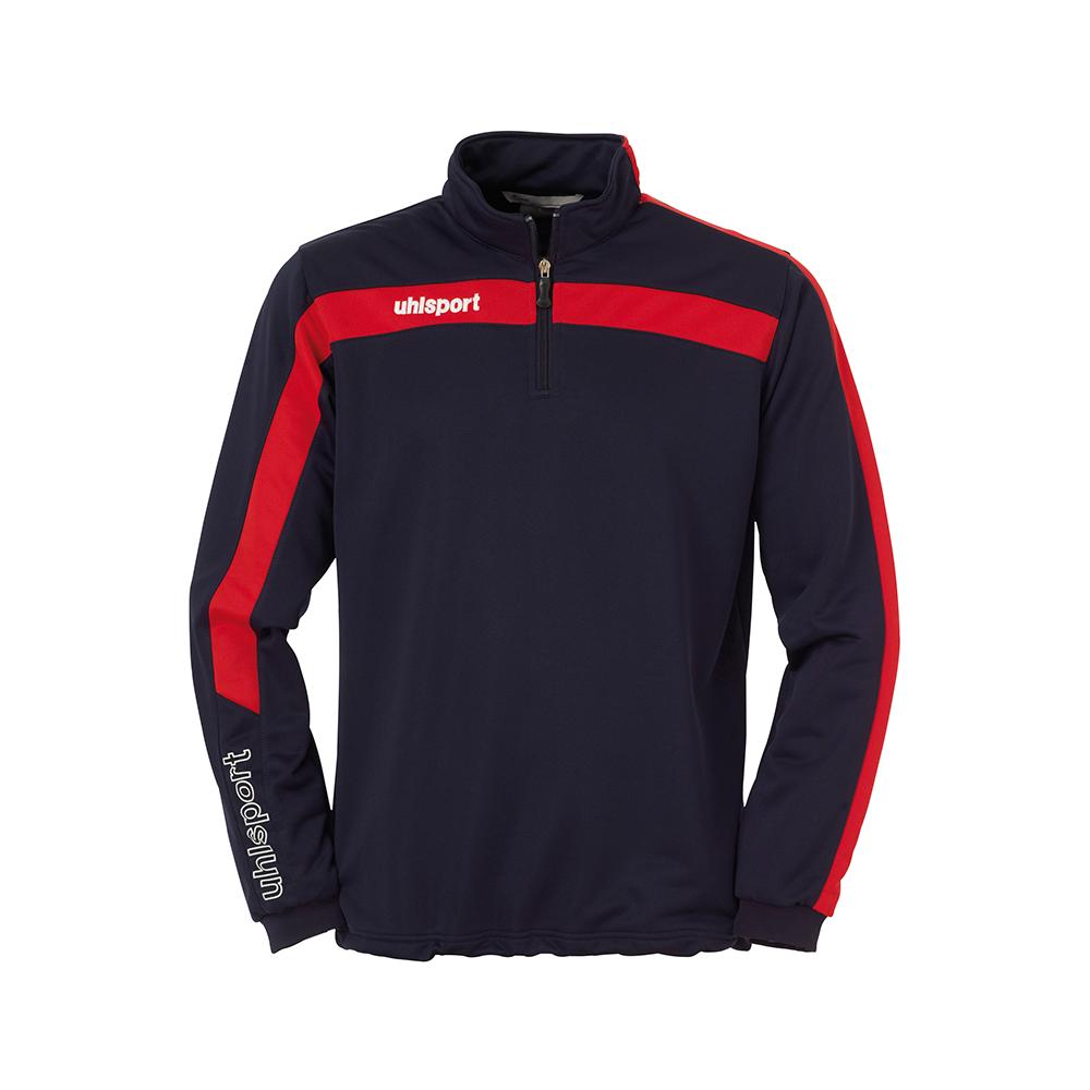 Uhlsport Liga Sweat 1/4 Zip - Marine & Rouge