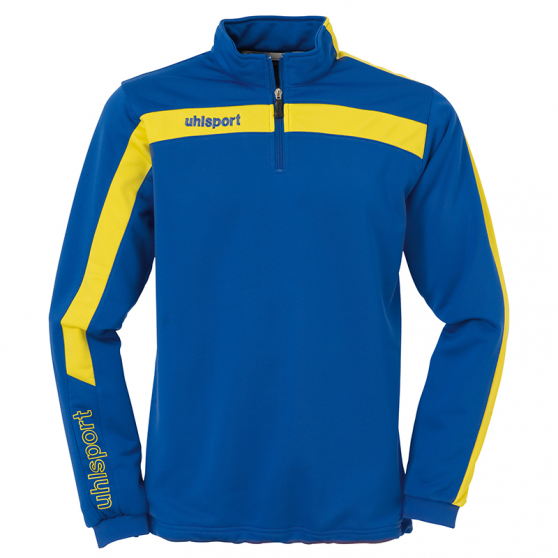 Uhlsport Liga Sweat 1/4 Zip - Azur & Jaune