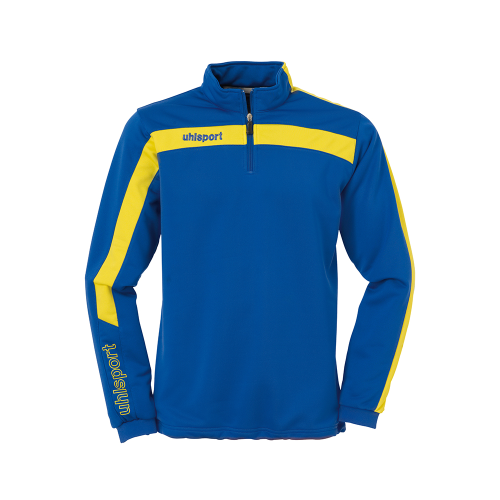 Uhlsport Liga Sweat 1/4 Zip - Azur & Jaune