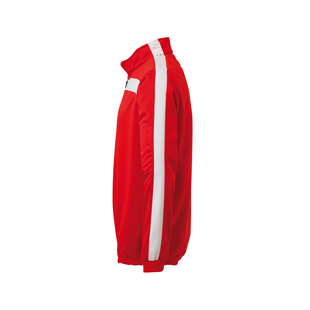 Uhlsport Liga Sweat 1/4 Zip - Rouge & Blanc - Vue de côté