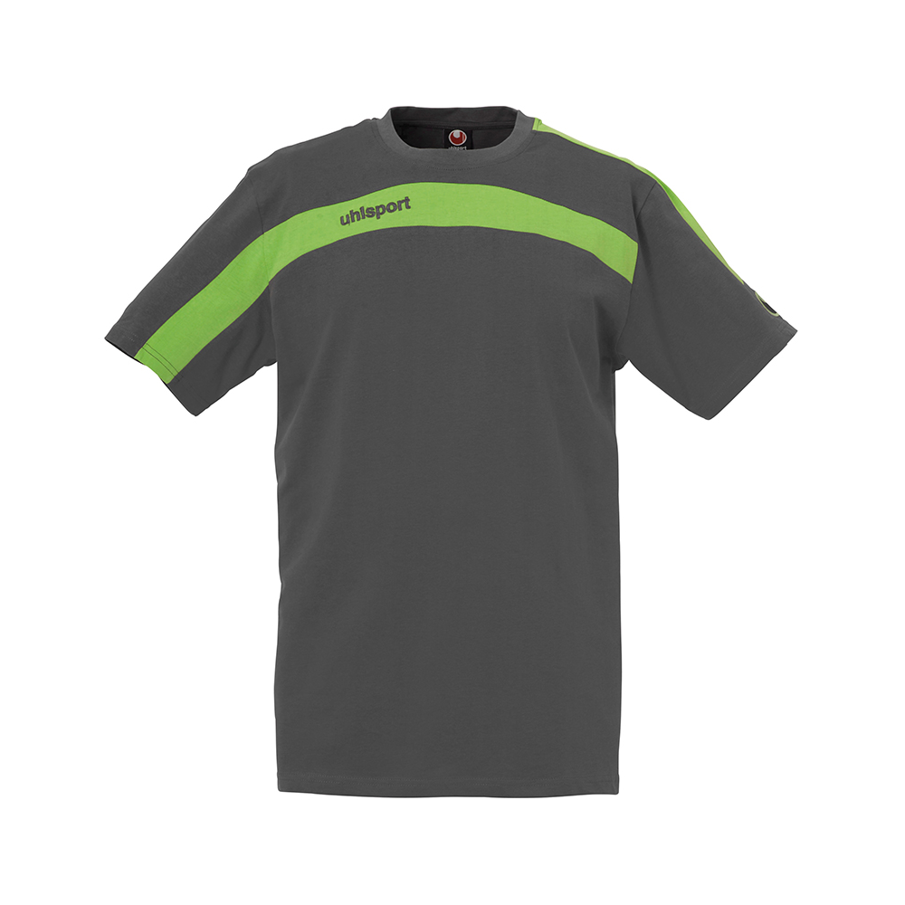 Uhlsport Liga Training T-Shirt - Anthracite & Vert