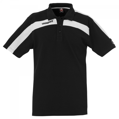 Uhlsport Liga Training Polo Shirt - Noir & Blanc