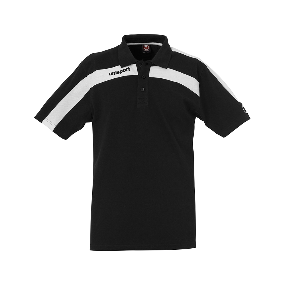 Uhlsport Liga Training Polo Shirt - Noir & Blanc