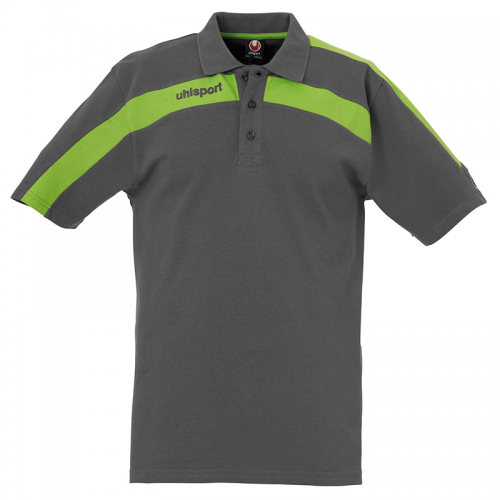 Uhlsport Liga Training Polo Shirt - Anthracite & Vert