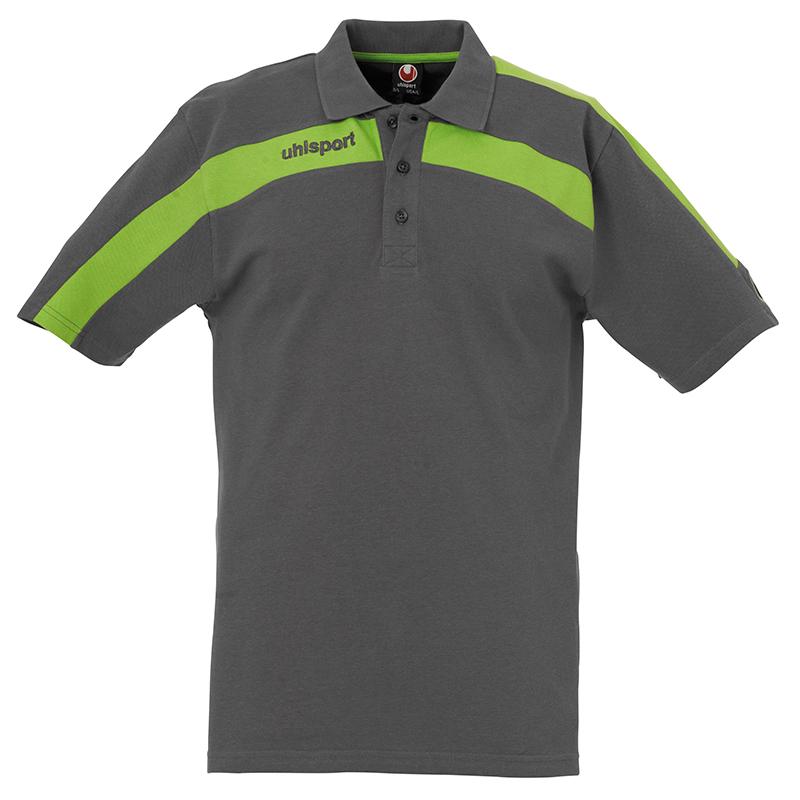 Uhlsport Liga Training Polo Shirt - Anthracite & Vert