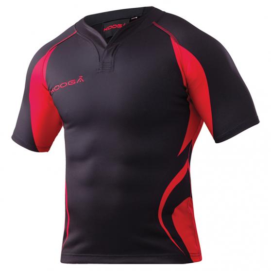 Kooga Tight Fit Curve Shirt - Noir & Rouge