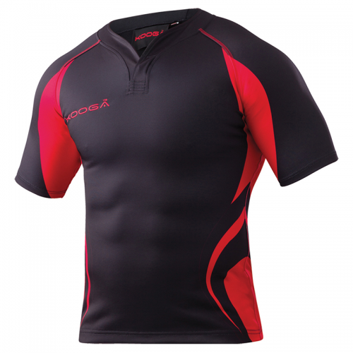 Kooga Tight Fit Curve Shirt - Noir & Rouge