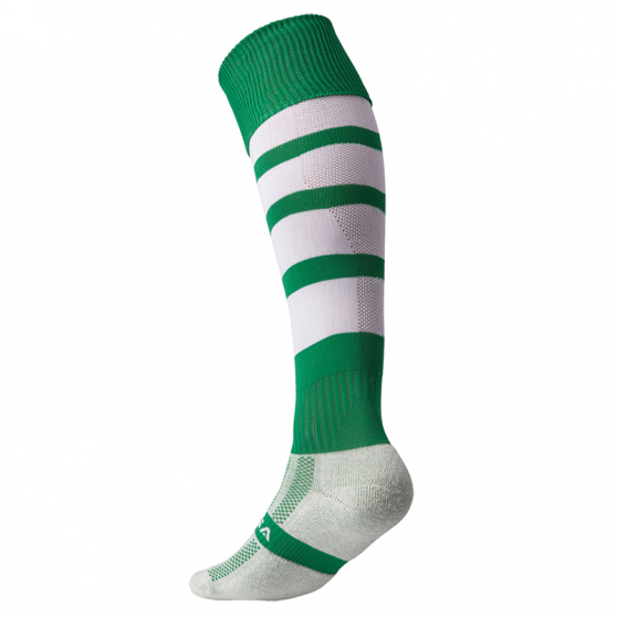 Kooga Technical Performance Sock - Vert & Blanc