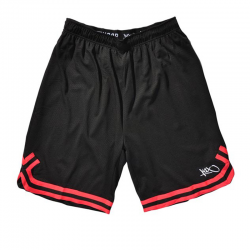 K1x Big Hole Mesh Double X Shorts - Noir & Rouge