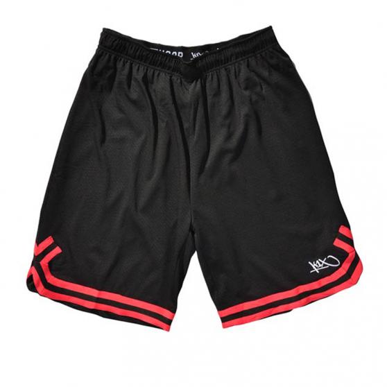 K1x Big Hole Mesh Double X Shorts - Noir & Rouge