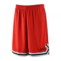 K1x Big Hole Mesh Double X Shorts - Rouge & Noir