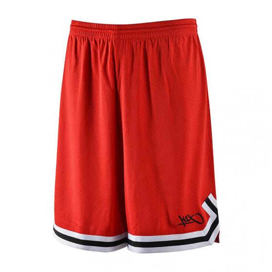 K1x Big Hole Mesh Double X Shorts - Rouge & Noir