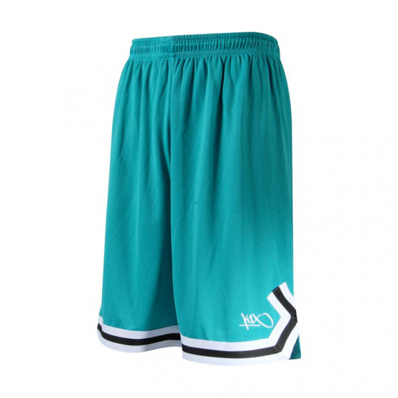 K1x Double X Shorts - Aqua & Blanc