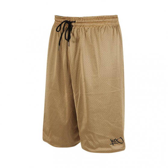 K1x Reversible Practice Shorts mk2 - Or & Noir