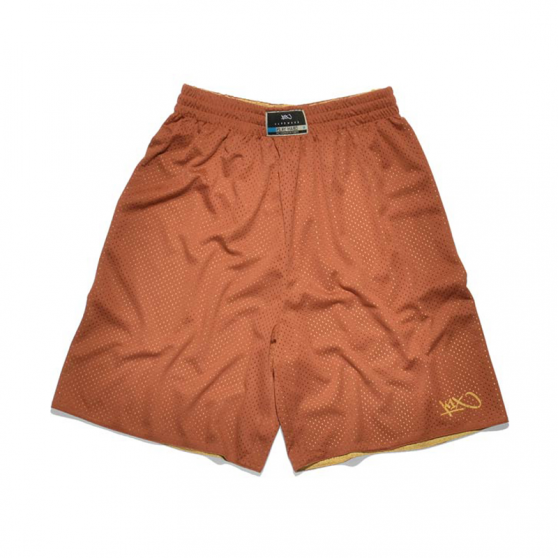 K1x Reversible Practice Shorts mk2 - Or & Cognac