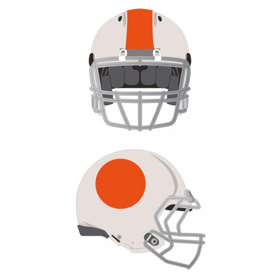 Personnalisation, stickers pour casques de football américain