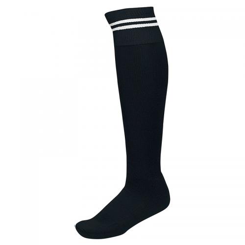 Chaussettes de Sport à Rayures - Noir & Blanc