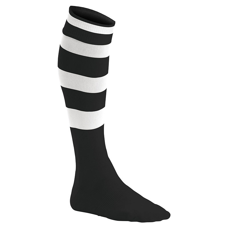 Chaussettes de Sport Cerclées - Noir & Blanc