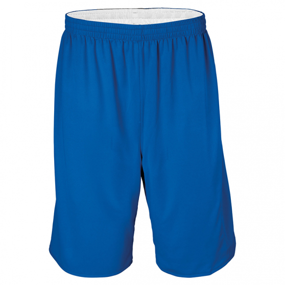 Short Basketball Réversible - Royal & Blanc
