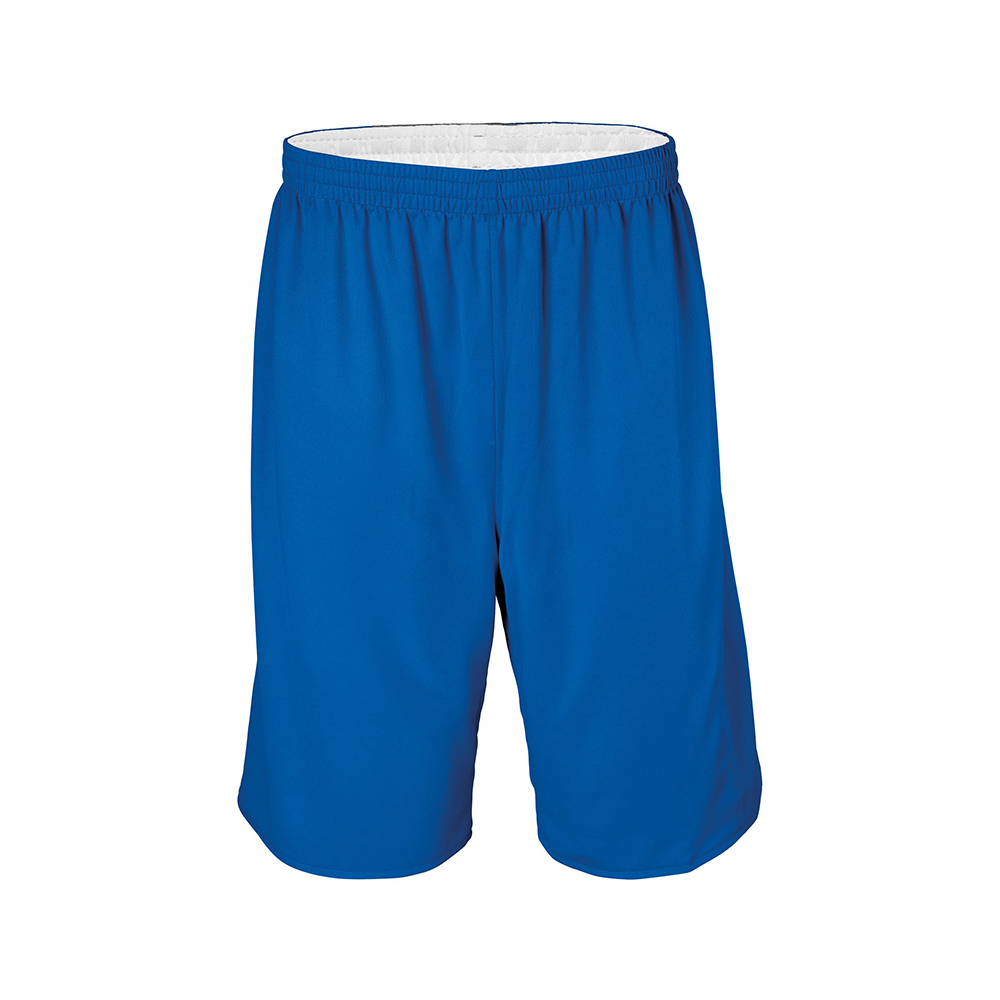 Short Basketball Réversible - Royal & Blanc
