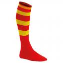 Chaussettes de Sport Cerclées - Rouge & Jaune