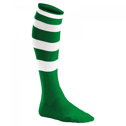 Chaussettes de Sport Cerclées - Vert & Blanc