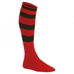 Chaussettes de Sport Cerclées - Rouge & Noir