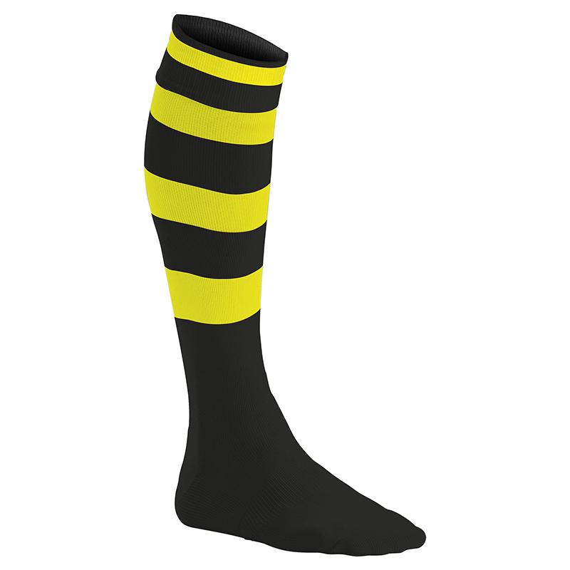 Chaussettes de Sport Cerclées - Noir & Jaune