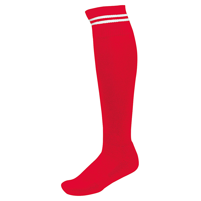 Chaussettes de Sport à Rayures - Rouge & Blanc