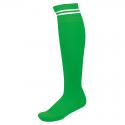 Chaussettes de Sport à Rayures - Vert & Blanc