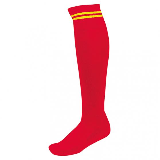 Chaussettes de Sport à Rayures - Rouge & Jaune