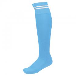 Chaussettes de Sport à Rayures - Ciel & Blanc
