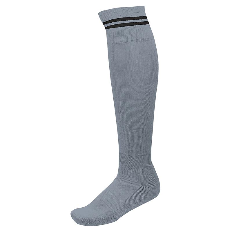 Chaussettes de Sport à Rayures - Gris & Noir