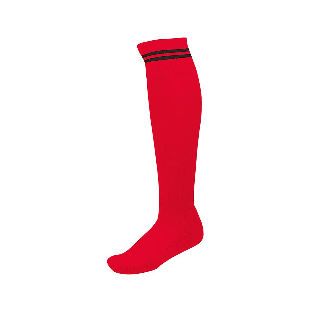 Chaussettes de Sport à Rayures - Rouge & Noir