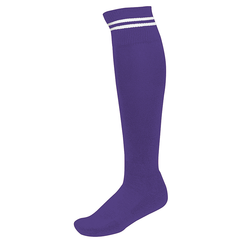 Chaussettes de Sport à Rayures - Violet & Blanc
