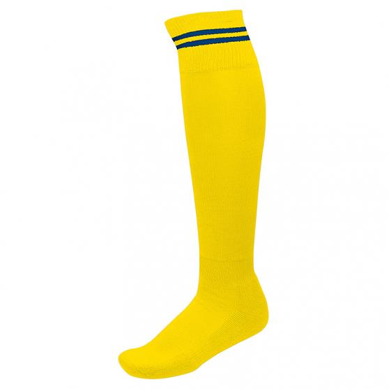 Chaussettes de Sport à Rayures - Jaune & Royal