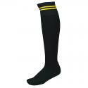 Chaussettes de Sport à Rayures - Noir & Jaune