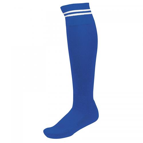 Chaussettes de Sport à Rayures - Royal & Blanc