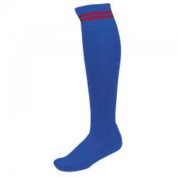 Chaussettes de Sport à Rayures - Royal & Rouge